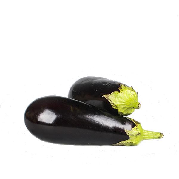 2 aubergines