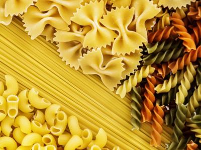 Close up of mixed of pasta